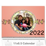 Happy Family 11x8.5 - Wall Calendar 11 x 8.5 (12-Months)