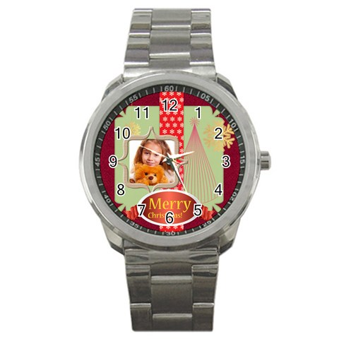 Christmas By Joely   Sport Metal Watch   B0l9q9l0wulb   Www Artscow Com Front
