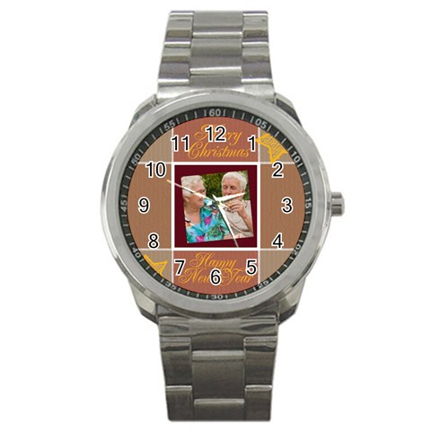 Christmas By Joely   Sport Metal Watch   0nsez4bqmfcd   Www Artscow Com Front