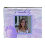 lavendar rose XL cosmetic bag - Cosmetic Bag (XL)