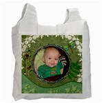 Green Recycle Bag (1 Sided) - Recycle Bag (One Side)