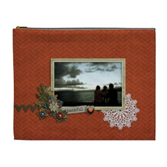Cosmetic Bag (xl): Thankful By Jennyl   Cosmetic Bag (xl)   Xzgn5rzhwn5a   Www Artscow Com Front