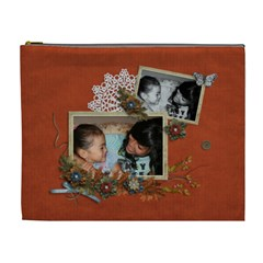 Cosmetic Bag (xl): Thankful 3 By Jennyl   Cosmetic Bag (xl)   Ubecpioh0g7k   Www Artscow Com Front