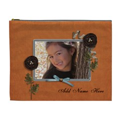 Cosmetic Bag (xl): Thankful 23 By Jennyl   Cosmetic Bag (xl)   421br8el2iui   Www Artscow Com Front