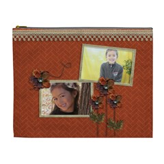 Cosmetic Bag (xl): Thankful 24 By Jennyl   Cosmetic Bag (xl)   J5my3pgxxd83   Www Artscow Com Front