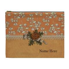 Cosmetic Bag (xl): Thankful 26 By Jennyl   Cosmetic Bag (xl)   Fjrn2gogcv3g   Www Artscow Com Front