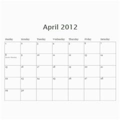 Calendar By Lenette   Wall Calendar 11  X 8 5  (12 Months)   Ja3cthuaplvu   Www Artscow Com Apr 2012