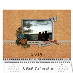 Wall Calendar 8 5 X 6: Cherished Memories By Jennyl   Wall Calendar 8 5  X 6    Bizdl8bz3jdu   Www Artscow Com Cover