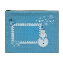 Snow Day By Zornitza   Cosmetic Bag (xl)   O647plu54ked   Www Artscow Com Front