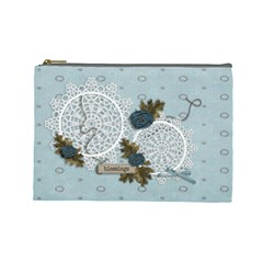Large Cosmetic Bag: Thankful3 By Jennyl   Cosmetic Bag (large)   2mcn4ifqzeod   Www Artscow Com Front