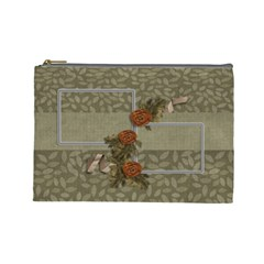 Large Cosmetic Bag: Thankful4 By Jennyl   Cosmetic Bag (large)   Ktv4fqej3qhf   Www Artscow Com Front