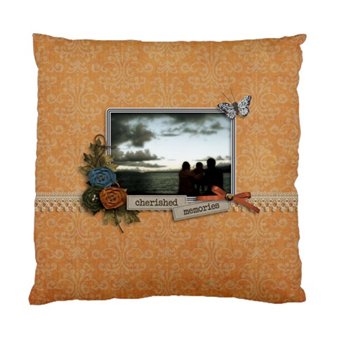 Cushion Case (one Side): Cherished Memories By Jennyl   Standard Cushion Case (one Side)   Blphok9ciokq   Www Artscow Com Front