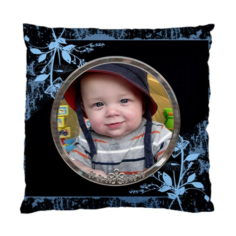 Blue Floral Cushion Case (1 Sided) By Lil    Standard Cushion Case (one Side)   Nqkro0uw7jkg   Www Artscow Com Front