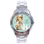 merry christmas - Stainless Steel Analogue Men's Watch
