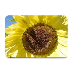 Yellow Sunflower Place Mat Plate Mat by InspiredPhotography