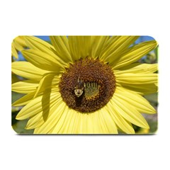 Sunflower and Bee Place Mat Plate Mat by InspiredPhotography