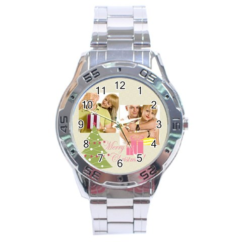 Christmas By May   Stainless Steel Analogue Watch   2r3mil93ysqw   Www Artscow Com Front