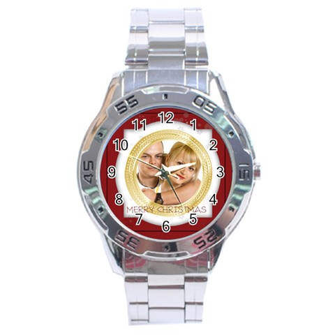Christmas By May   Stainless Steel Analogue Watch   7jn31vv7p9mt   Www Artscow Com Front