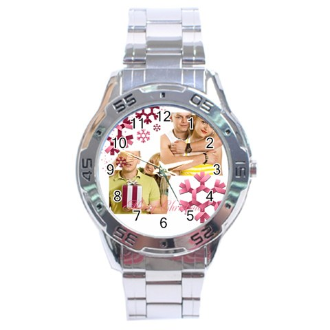 Christmas By May   Stainless Steel Analogue Watch   Fg9770wvhyq3   Www Artscow Com Front