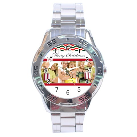 Christmas By May   Stainless Steel Analogue Watch   19u1g93q5m50   Www Artscow Com Front