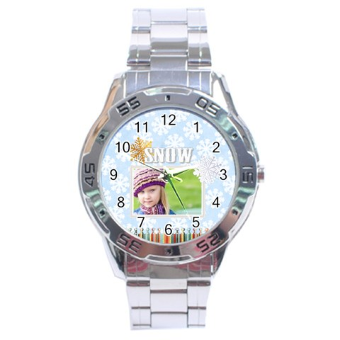 Christmas By Joely   Stainless Steel Analogue Watch   Aep9i0u2piuv   Www Artscow Com Front