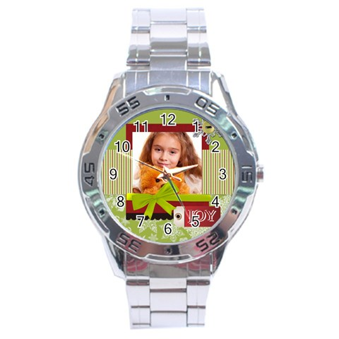 Christmas By Joely   Stainless Steel Analogue Watch   Pwmq5we8d1qp   Www Artscow Com Front