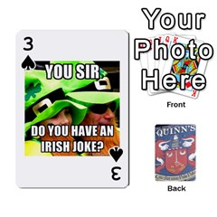 Cards For Quinns By Will   Playing Cards 54 Designs   Ybw02uaft441   Www Artscow Com Front - Spade3