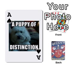 Ace Cards For Quinns By Will   Playing Cards 54 Designs   Ybw02uaft441   Www Artscow Com Front - SpadeA