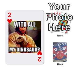 Cards For Quinns By Will   Playing Cards 54 Designs   Ybw02uaft441   Www Artscow Com Front - Heart2