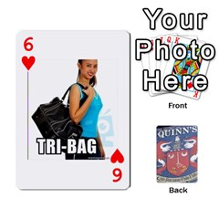 Cards For Quinns By Will   Playing Cards 54 Designs   Ybw02uaft441   Www Artscow Com Front - Heart6
