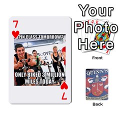Cards For Quinns By Will   Playing Cards 54 Designs   Ybw02uaft441   Www Artscow Com Front - Heart7