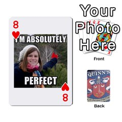 Cards For Quinns By Will   Playing Cards 54 Designs   Ybw02uaft441   Www Artscow Com Front - Heart8
