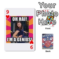 Cards For Quinns By Will   Playing Cards 54 Designs   Ybw02uaft441   Www Artscow Com Front - Heart9