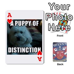 Ace Cards For Quinns By Will   Playing Cards 54 Designs   Ybw02uaft441   Www Artscow Com Front - HeartA