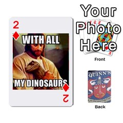 Cards For Quinns By Will   Playing Cards 54 Designs   Ybw02uaft441   Www Artscow Com Front - Diamond2