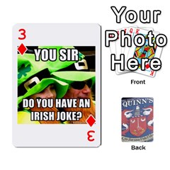 Cards For Quinns By Will   Playing Cards 54 Designs   Ybw02uaft441   Www Artscow Com Front - Diamond3