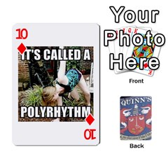 Cards For Quinns By Will   Playing Cards 54 Designs   Ybw02uaft441   Www Artscow Com Front - Diamond10