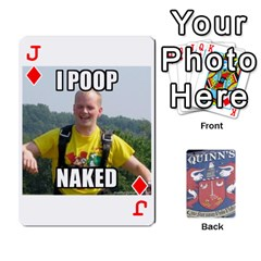 Jack Cards For Quinns By Will   Playing Cards 54 Designs   Ybw02uaft441   Www Artscow Com Front - DiamondJ