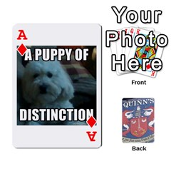 Ace Cards For Quinns By Will   Playing Cards 54 Designs   Ybw02uaft441   Www Artscow Com Front - DiamondA