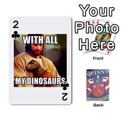 Cards For Quinns By Will   Playing Cards 54 Designs   Ybw02uaft441   Www Artscow Com Front - Club2