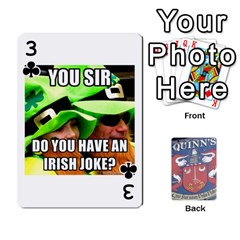 Cards For Quinns By Will   Playing Cards 54 Designs   Ybw02uaft441   Www Artscow Com Front - Club3