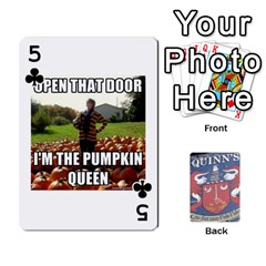 Cards For Quinns By Will   Playing Cards 54 Designs   Ybw02uaft441   Www Artscow Com Front - Club5