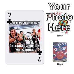 Cards For Quinns By Will   Playing Cards 54 Designs   Ybw02uaft441   Www Artscow Com Front - Club7