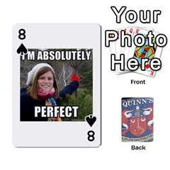 Cards For Quinns By Will   Playing Cards 54 Designs   Ybw02uaft441   Www Artscow Com Front - Spade8