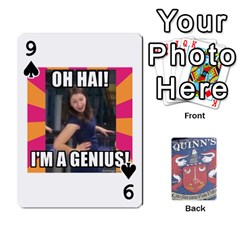 Cards For Quinns By Will   Playing Cards 54 Designs   Ybw02uaft441   Www Artscow Com Front - Spade9