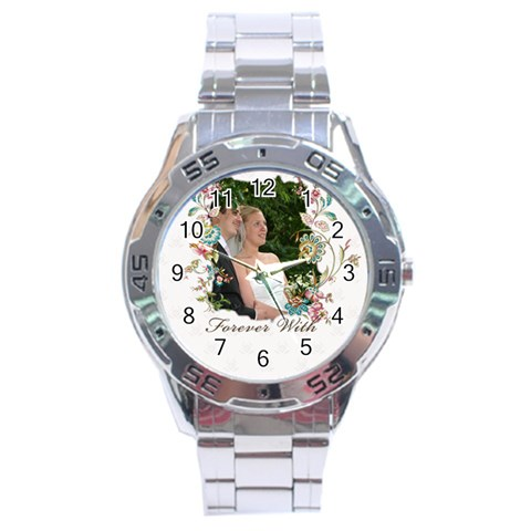 Wedding By Wood Johnson   Stainless Steel Analogue Watch   Hbok7l5sh9ar   Www Artscow Com Front