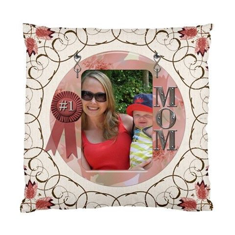 Number One Mom Cushion Case (1 Sided) By Lil    Standard Cushion Case (one Side)   Rfh6n4rymjkr   Www Artscow Com Front