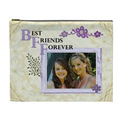 Best Friends Forever Xl Cosmetic Bag By Lil    Cosmetic Bag (xl)   Pcor8jht8j7w   Www Artscow Com Front