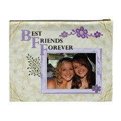 Best Friends Forever Xl Cosmetic Bag By Lil    Cosmetic Bag (xl)   Pcor8jht8j7w   Www Artscow Com Back