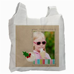 Christmas By Joely   Recycle Bag (two Side)   9ebc6cdjlsq8   Www Artscow Com Front